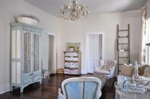 Shabby Chic Living Room Furniture With Blue Accents F