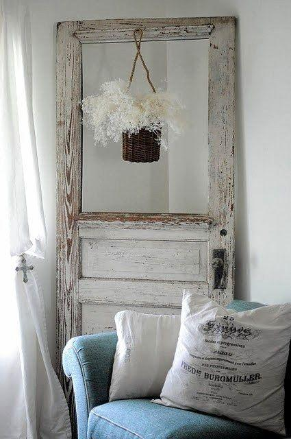 Shabby chic room with decorative door