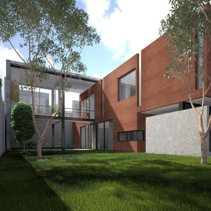 Summer modern minimalist house