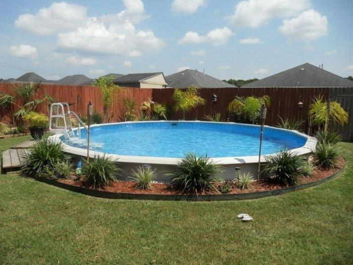 Small garden pool in the front lawn