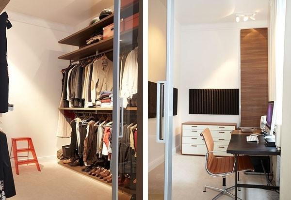 Small study and cllothes storage room
