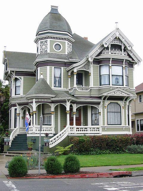 Town Victorian house with face to the street