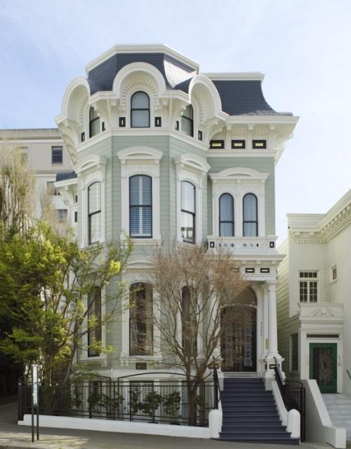Traditional Victorian house with interesting architecture