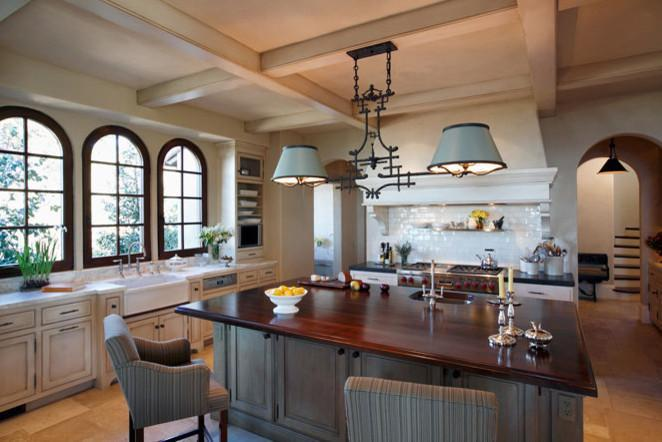 Traditional kitchen with flush inset and framed cabinetry