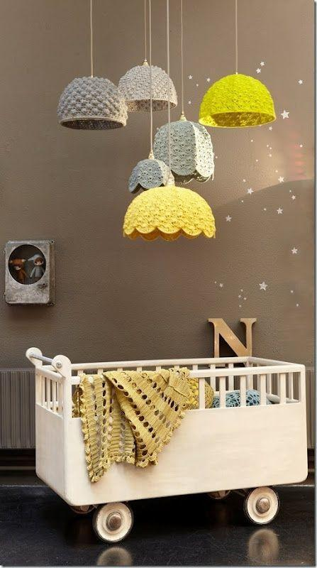 Unique baby crib inside a kids room