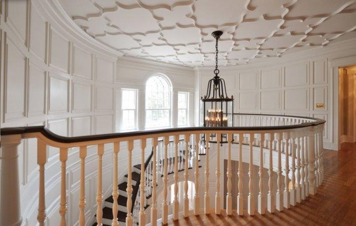 Victorian Gothic interior with spiral staircase