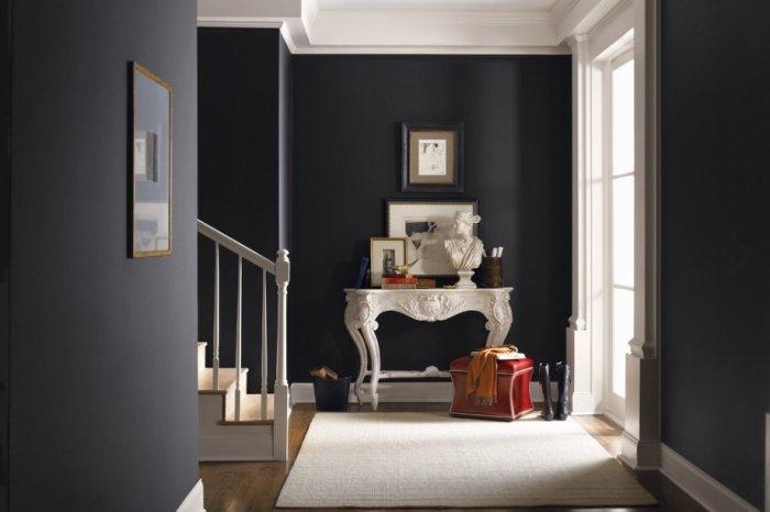 Victorian Gothic Hallway With White Drawer