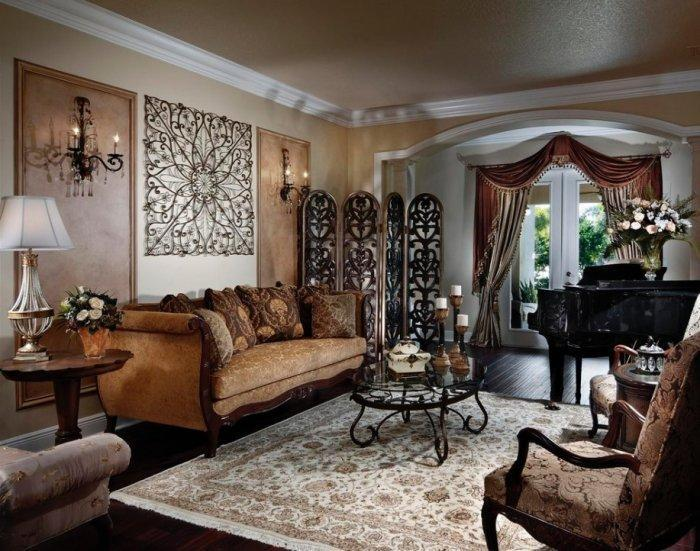 Victorian gothic living room with wrought iron details | | Founterior