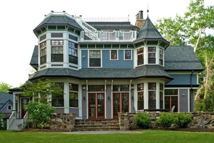 Victorian house with typical classic architecture