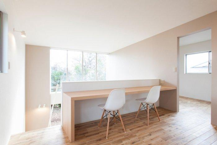 Working places inside the small home in Japan