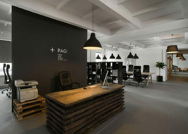 14 modern and creative office interior designs founterior for Bureau reception