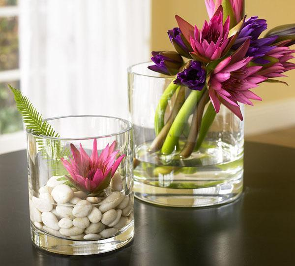 Beautiful Decorative Flowers Placed Inside Whiskey