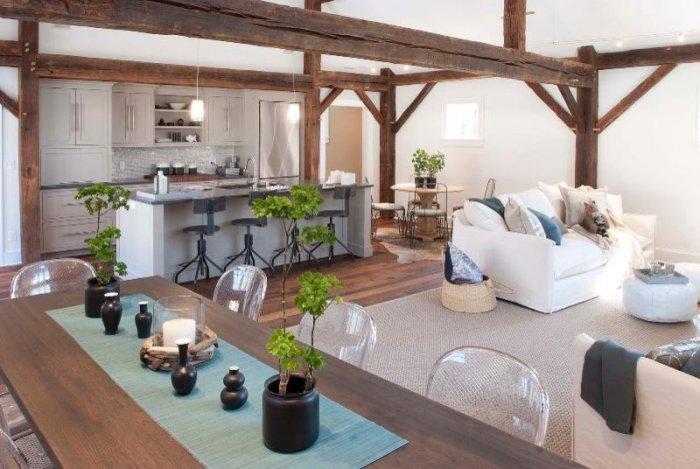Barn kitchen - with stylish modern appliances