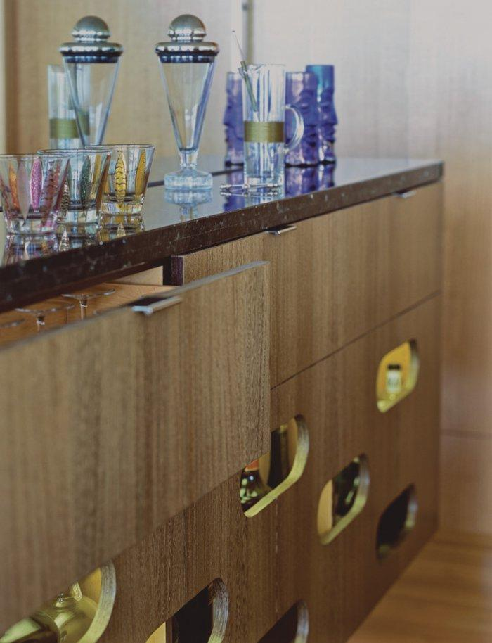 Beverages bar - with mid-century modern chest of drawers
