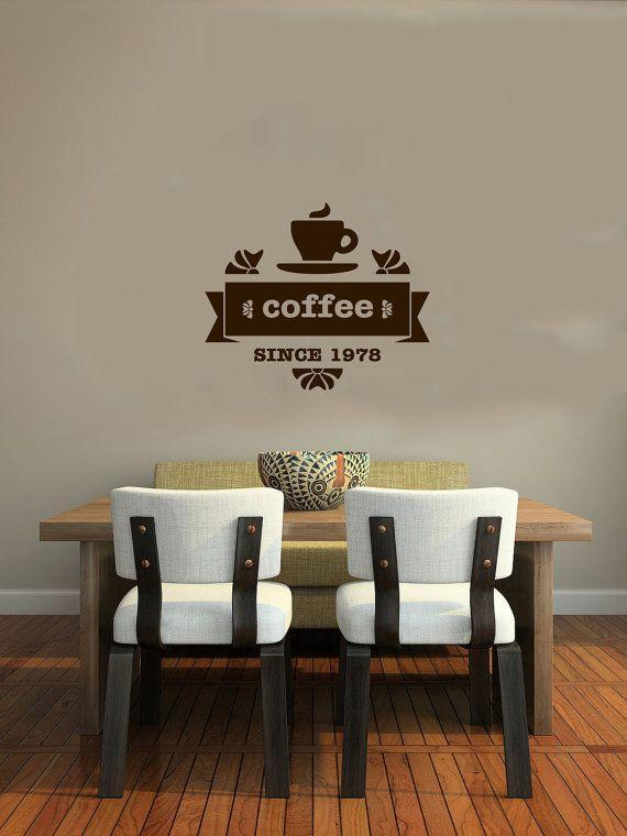 Cafe wall decal - and simple and elegant tables and chairs