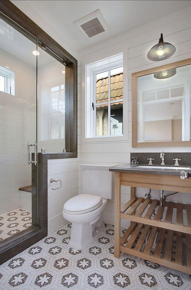 Casual bathroom with wood accents