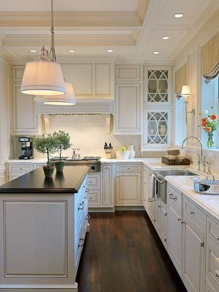 Classic White Kitchen white kitchen countertops and cabinets ideas | founterior