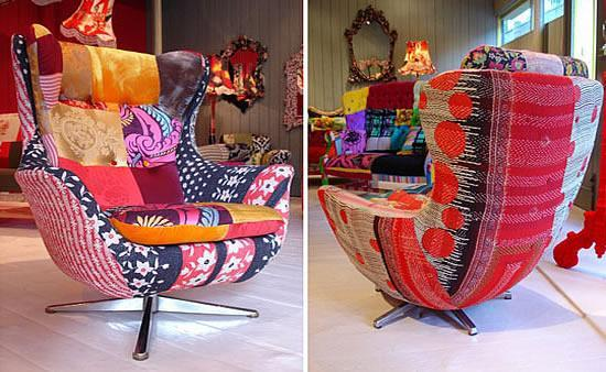 Colorful modern armchair that has been developed as a designer concept