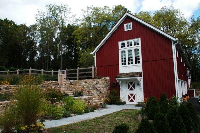 Contemporary barn - a view from outside