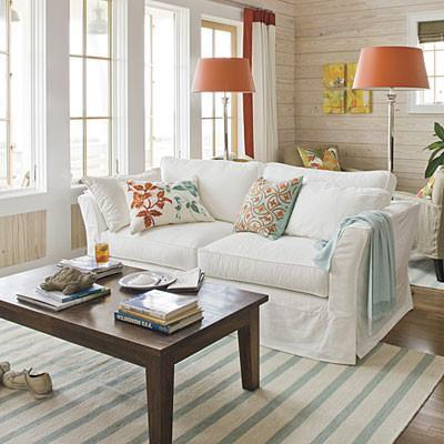 Contemporary cottage interior design examples founterior - Small beach house decorating ideas ...