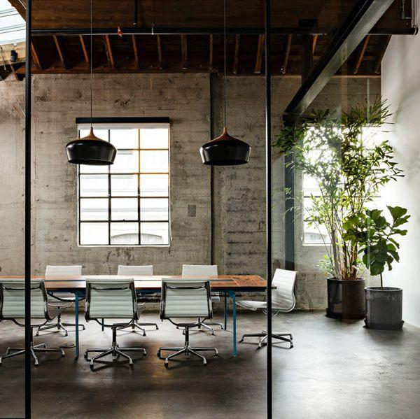 Creative office meeting room with modern furniture