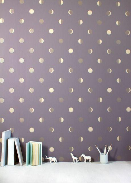 Creative wallpapers in the flat living room