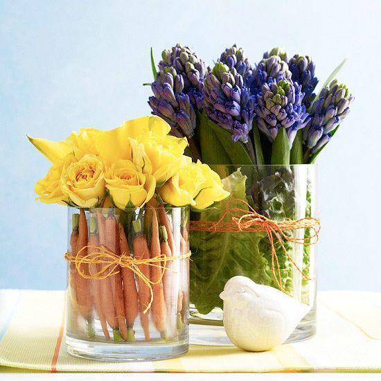 DIY flower decoration - they make a fantastic table centerpieces