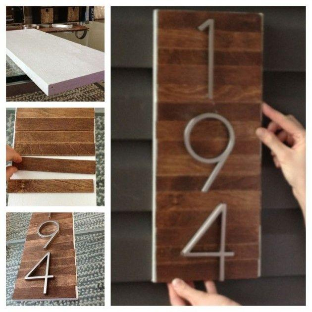 Diy Street Number Sign With Wood And Numbers Founterior