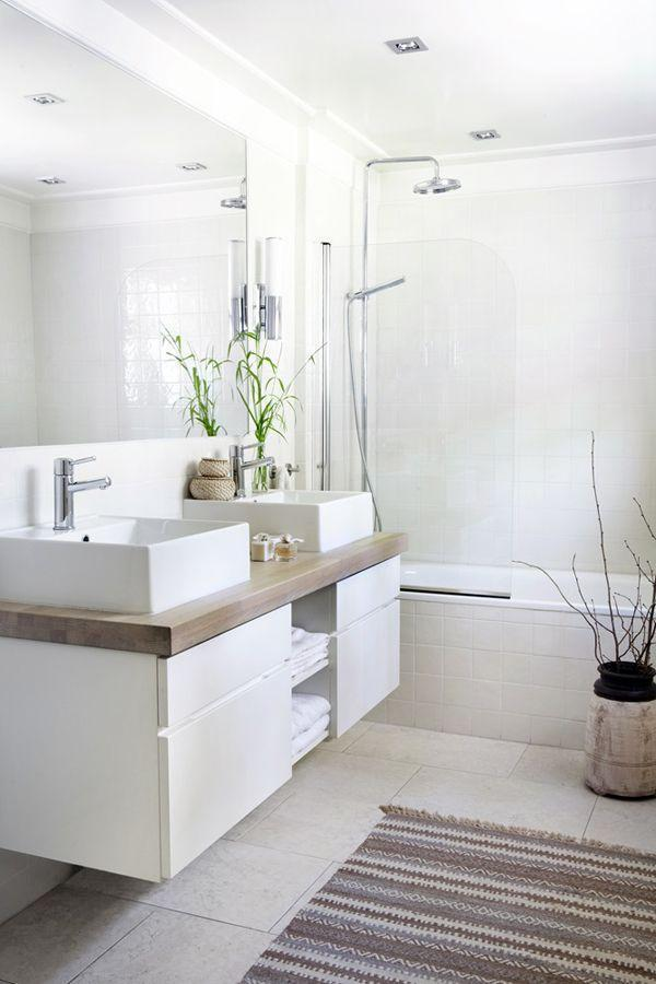 Elegant bathroom in white color