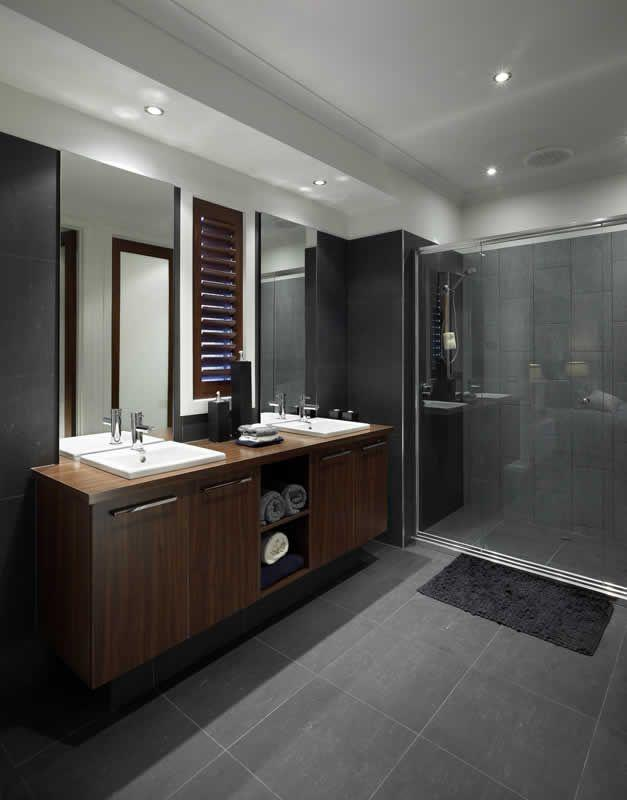 Giant dark grey tiles - for floor and wall application