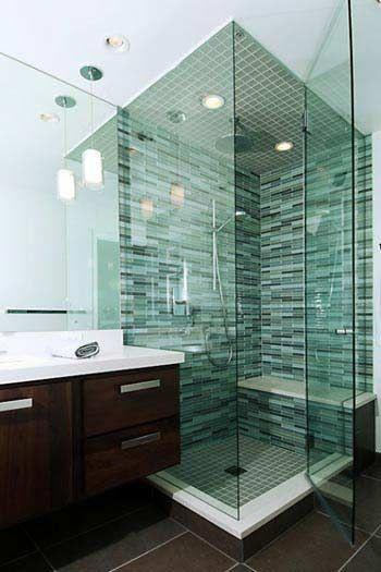 Green tiles - for use in the shower area