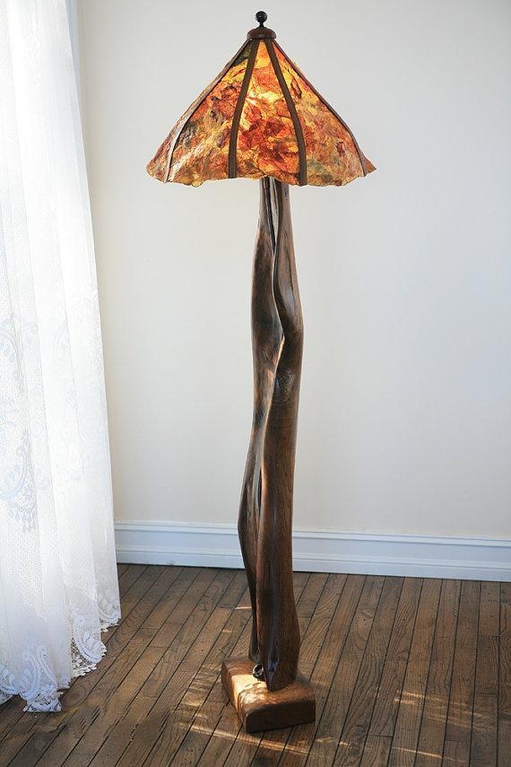 Handmade lamp - looking like a mushroom