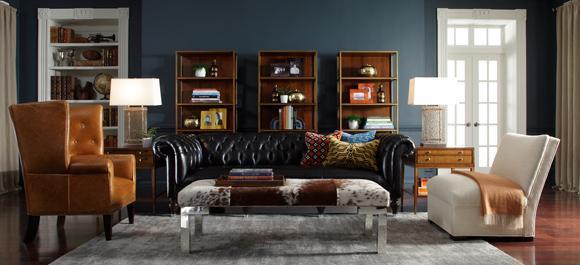 Home decor - brown colors has always been trendy in living room interior
