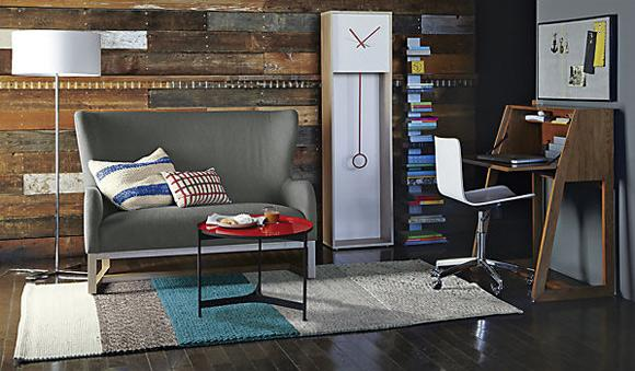 Home decor - earth colors create calm atmosphere inside the living room