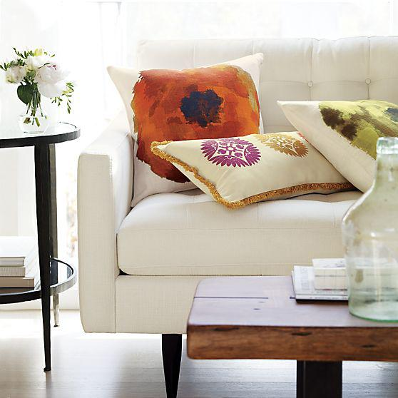 Home decor - vivid pastel tones for the lovely sofa cushions