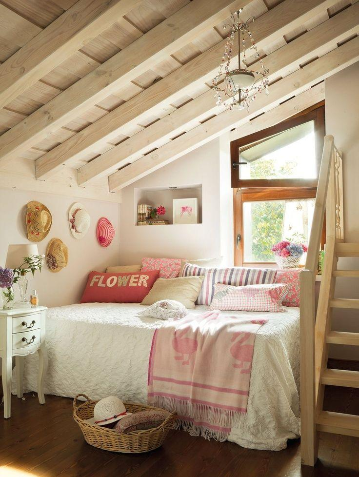 House Attic Bedroom   With Small Bed And Window