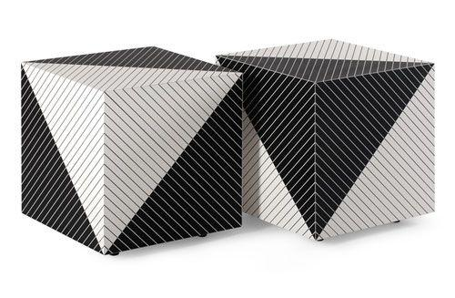 Italian concept stools - with black and white contrast colors
