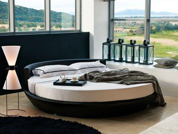 Italian oval bed - in a luxurious contemporary villa