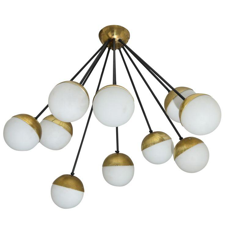 Italian pendant - with small ball bulb holders