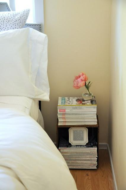 Little flower decoration on the bedside table