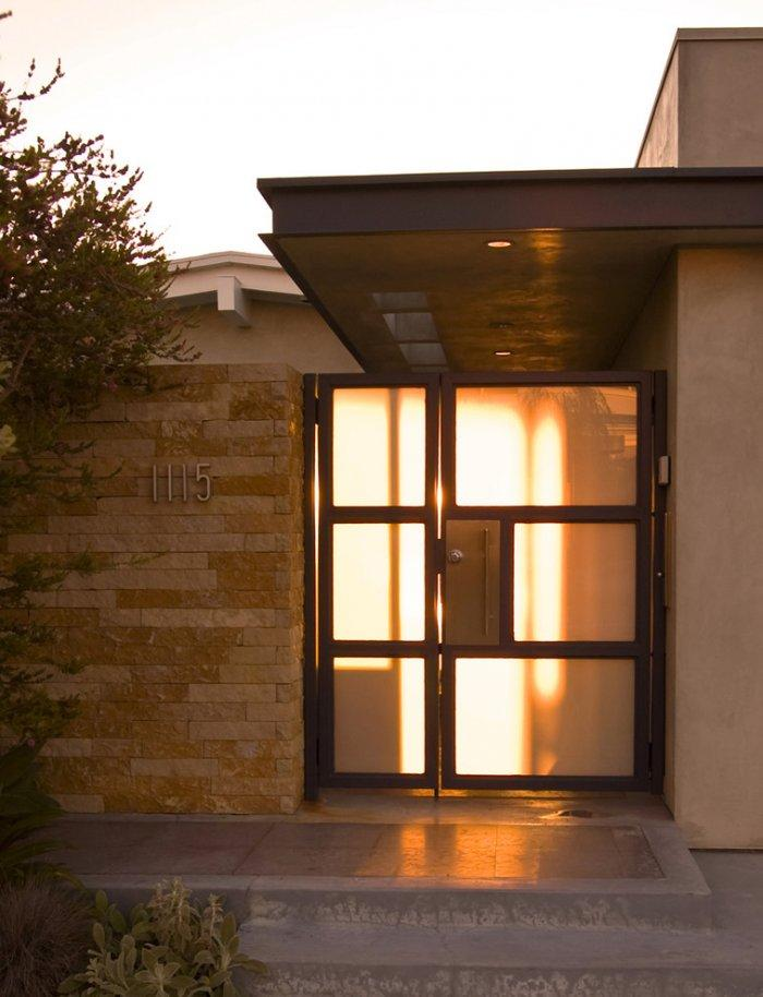 Contemporary makeover of a mid century modern home for Modern front doors for homes