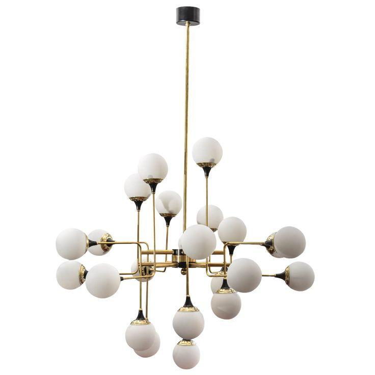Modern Italian pendant - with oval shapes of the bulb holders