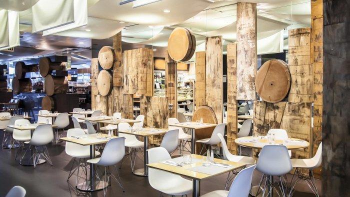 Modern cafe interior design founterior for Modern cafe interior designs