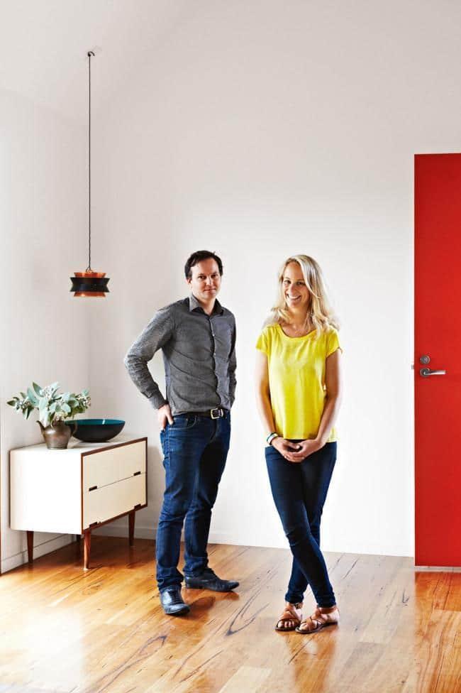 Modern couple ion a stylish room