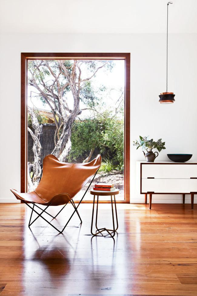 Modern living room in mid-century modern style