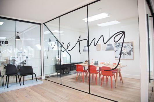 Modern meeting room with glazed walls