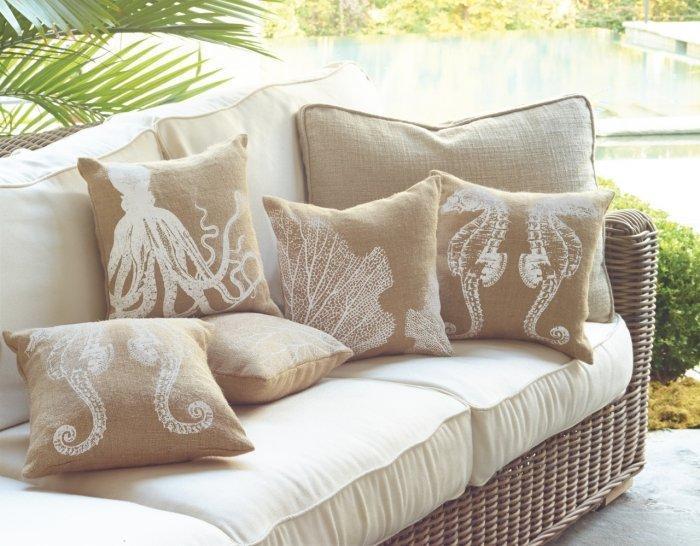 Octupus pillows - in mild creme color