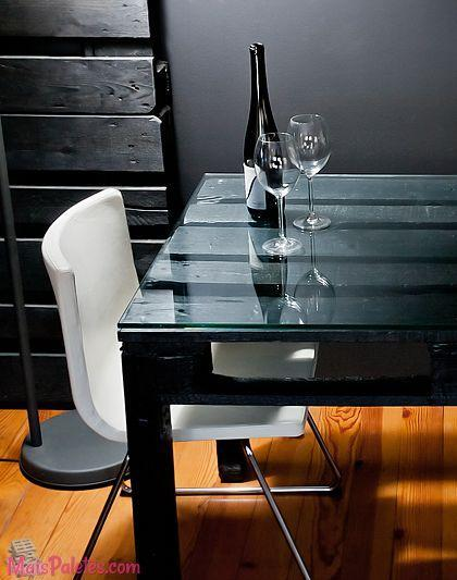 Palette dining table - in an eclectic dining room