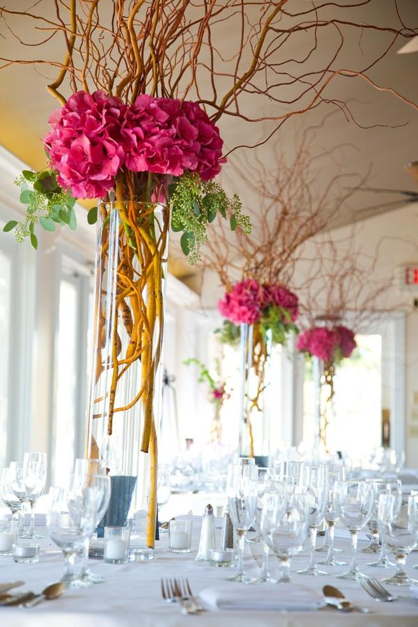 Red flowers - used for table decoration
