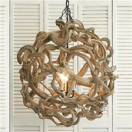 Rustic pendant - with oval shape